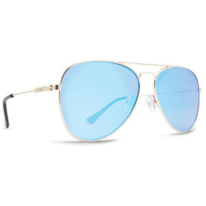 Dot Dash Aerogizmo Sunglasses - Gold Gloss/Blue Chrome, Sunglasses, Dot Dash, Dot Dash, Specs100% UV 400 ProtectionMetal FrameBase-2 Polycarbonate Lens3 Barrel Metal Hinge