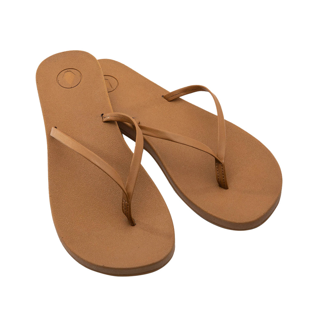 Volcom Sandals Womens E-Cliner Prayer - Cognac - Seaside Surf Shop