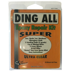 Ding All Epoxy Super Repair Kit, Surf Accessories, Blocksurf, Epoxy Repair, Ding All Epoxy Super Repair Kit will ship only to addresses in the contigous 48 statesat this time, due to the chemical nature of our products we can only ship via Ground. We do not ship to Post Office Boxes-items may be shipped seperately if you have multiple items on order.