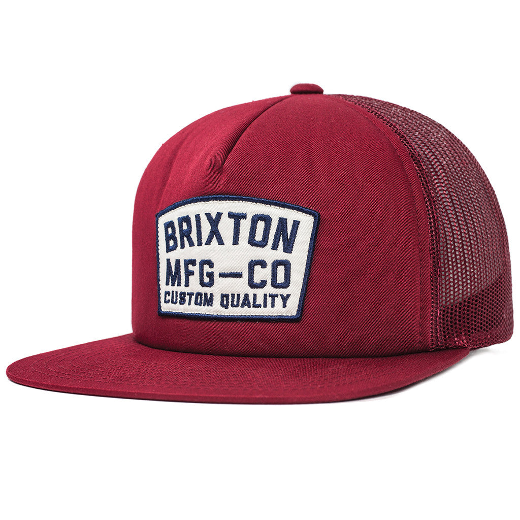 -Apparel Accessories-Brixton Mens National Mesh Cap - Burgundy-Brixton-Seaside Surf Shop