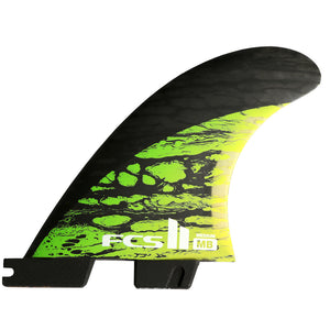FCS II MB PC Carbon Green Medium Tri Retail Fins