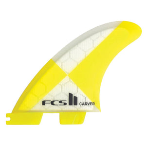 FCS II Carver PC Yellow Large Tri Retail Fins, Surf Accessories, FCS, Tri Fin, FCS II Carver PC Yellow Large Tri Retail Fins