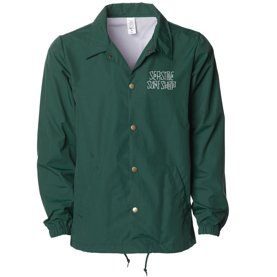 Seaside Surf Shop Mens Dog Days Coaches Jacket - Forest Green