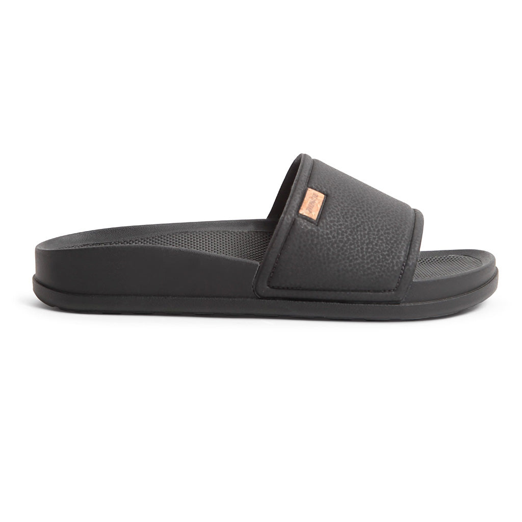 Freewaters Unisex Supreem Slide Sandals - Black - Seaside Surf Shop
