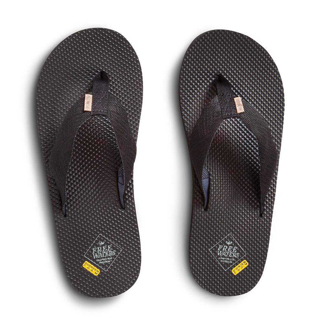 Freewaters Mens Supreem Sandals - Black IV - Seaside Surf Shop