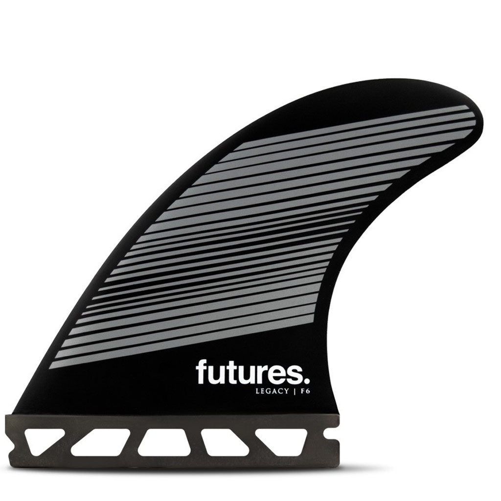 Futures Fins - F6 Legacy Tri Fin Set - Gray/Black - Seaside Surf Shop