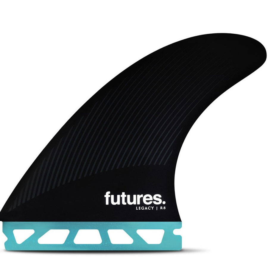 Futures Fins - R8 Legacy Tri Fin Set - Teal/Black-Futures Fins-Seaside Surf Shop