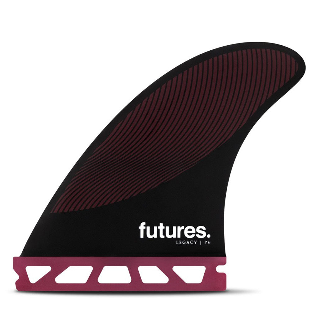 Futures Fins - P6 Legacy Tri Fin Set - Burgundy/Black - Seaside Surf Shop