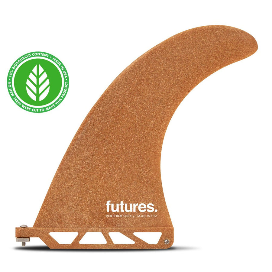 "Futures Fins - RWC Performance 8.0""  Longboard Fin - Reclaimed Wood"