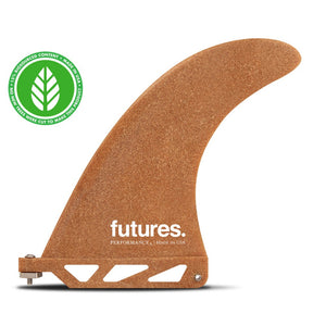 "Futures Fins - RWC Performance 6.0""  Longboard Fin - Reclaimed Wood"