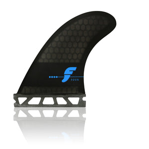 Futures Fins - Four (F4) Honeycomb Tri-Fin Set - Smoke/Black/Blue-Futures Fins-Seaside Surf Shop