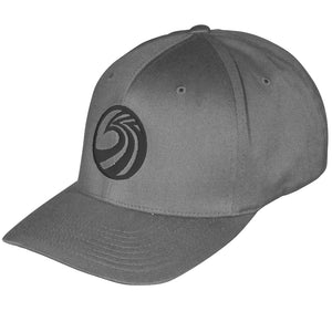 Seaside Surf Shop New Wave Logo Flexfit Cap - Dark Grey/Gloss Black