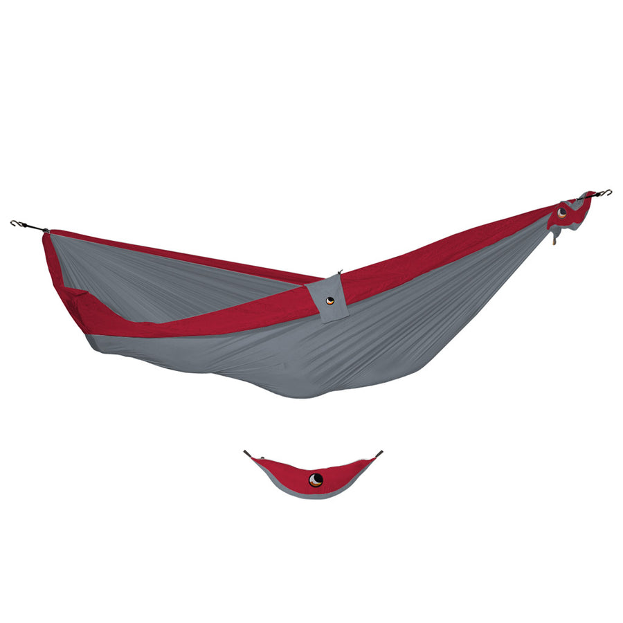 Ticket to the Moon Double Hammock - Light Grey/Burgundy-Ticket to the Moon-Seaside Surf Shop