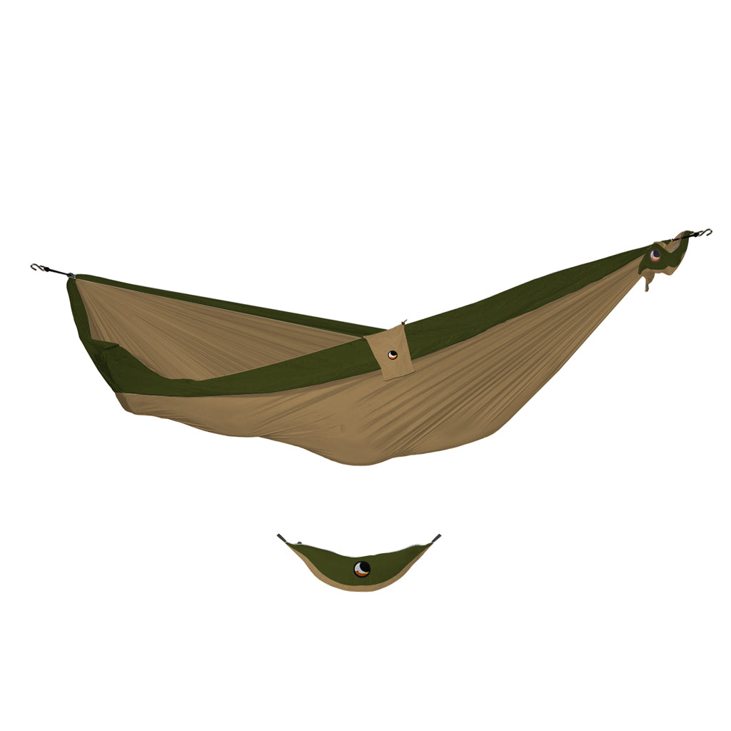 Ticket to the Moon Single Hammock -  Brown/Army Green - Seaside Surf Shop