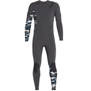 Xcel Comp Mens 4/3mm Wetsuit - Green/Snow Camo