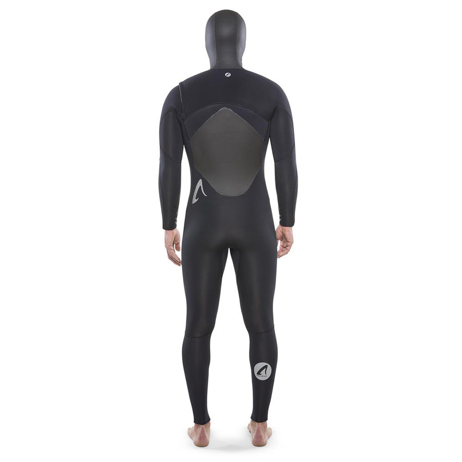 Isurus Ti-Alpha Mens 5.4mm Hooded Wetsuit - Black-Isurus Wetsuits-Seaside Surf Shop