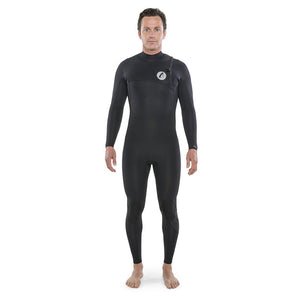 Isurus Shield Zipfree Mens 2.2mm Wetsuit - Black-Isurus Wetsuits-Seaside Surf Shop