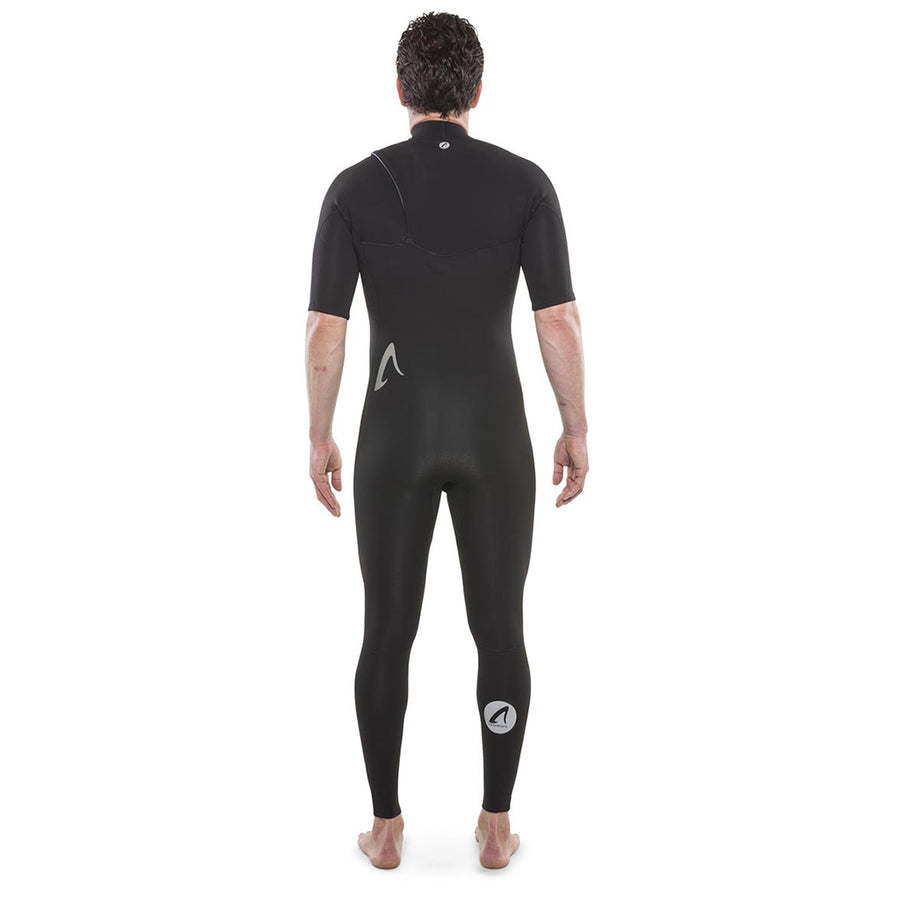 Isurus Shield Zipfree Mens 2.2mm Short Arm Fullsuit - Black-Isurus Wetsuits-Seaside Surf Shop