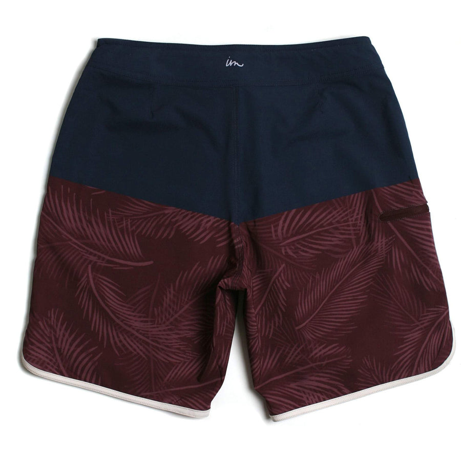 Imperial Motion Mens Vislon Boardshort - Navy/Burgundy