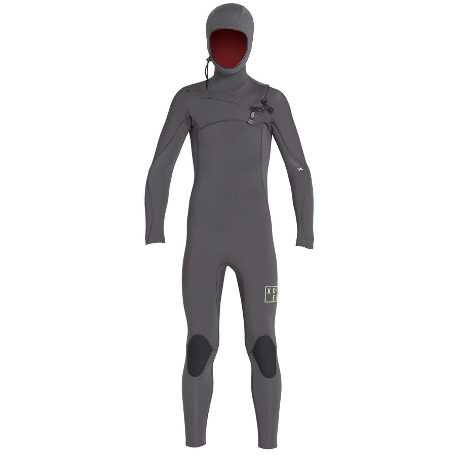 Xcel Comp X Youth 4.5/3.5mm Hooded Wetsuit - Jet/Black
