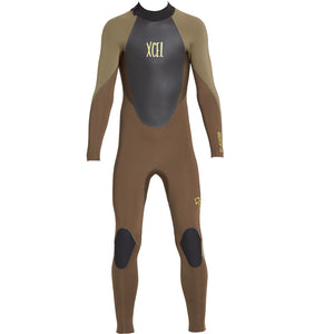 Xcel Axis X Youth's 4/3mm Backzip Wetsuit - Dark Breech/Crocodile