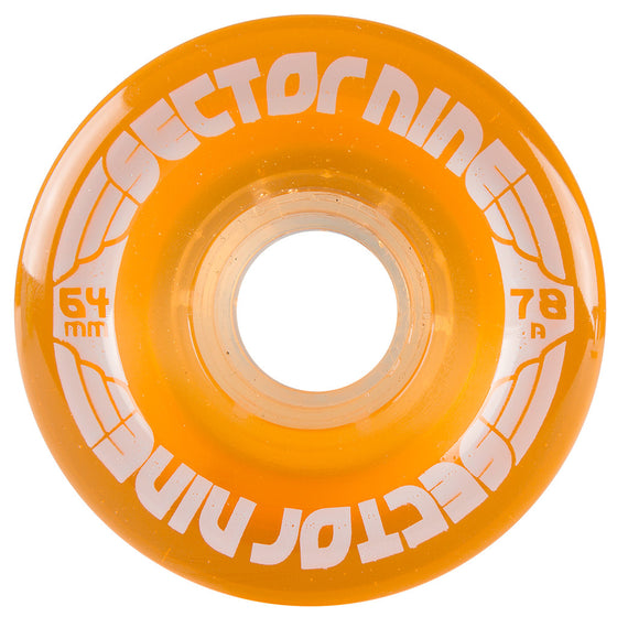 -Skate-Sector 9 64mm Nineballs Wheels - Light Orange-Sector 9-Seaside Surf Shop