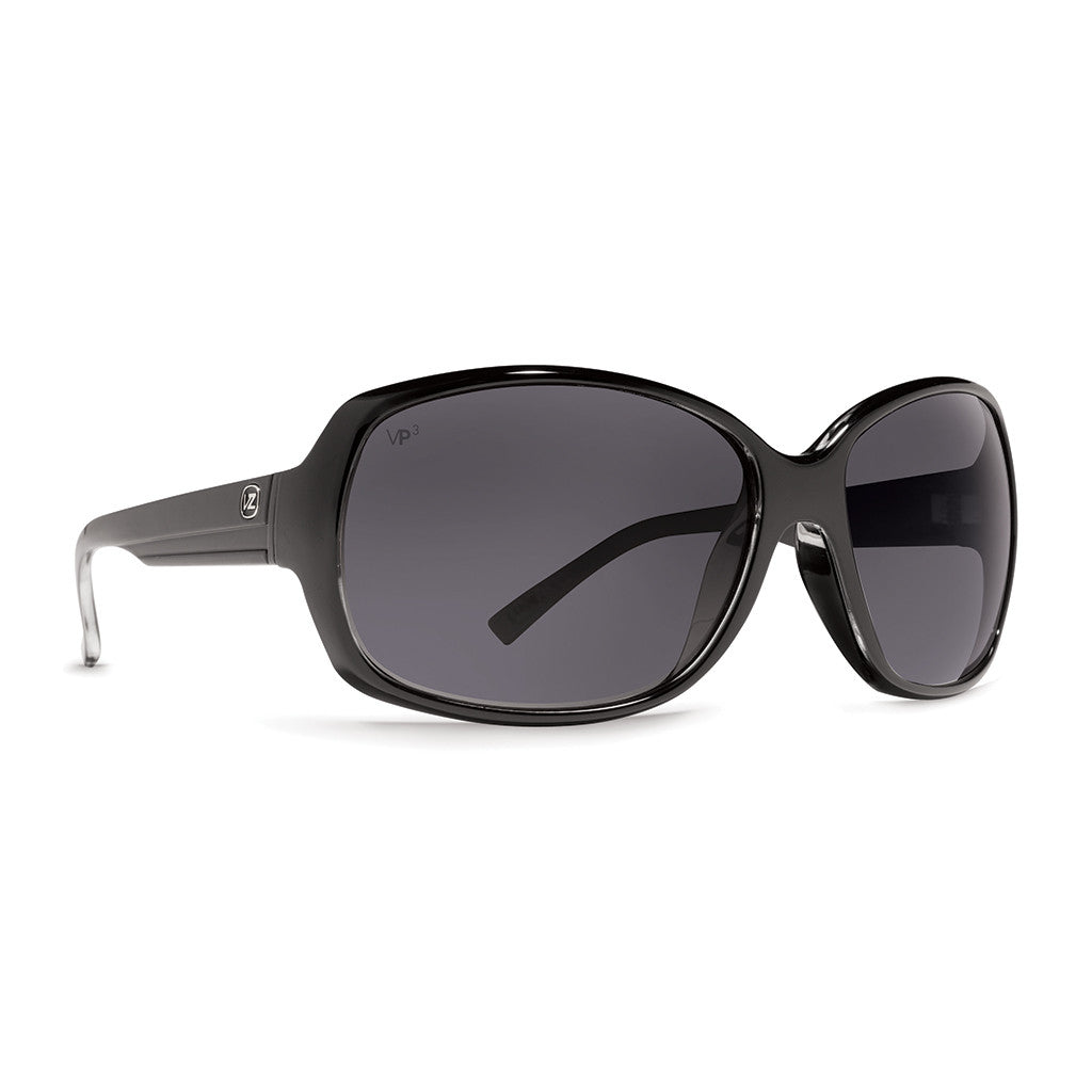 -Sunglasses-Von Zipper Ling Ling - Black Gloss Grey Polarized-Von Zipper-Seaside Surf Shop