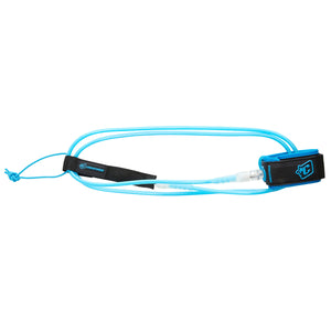 Creatures 5' Lite Leash - Cyan/Clear-Creatures of Leisure-Seaside Surf Shop