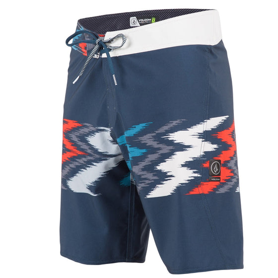 -Swimwear-Volcom Mens Macaw Mod Boardshorts - Airforce Blue-Volcom-Seaside Surf Shop