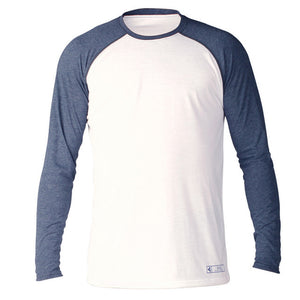 Xcel ThreadX Mens L/S Surf Shirt - White/Navy-Xcel Wetsuits-Seaside Surf Shop