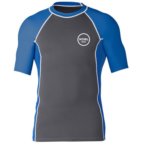 -Wetsuit Accessories-Xcel Huntington Mens S/S - Gunmetal Blue-Xcel Wetsuits-Seaside Surf Shop