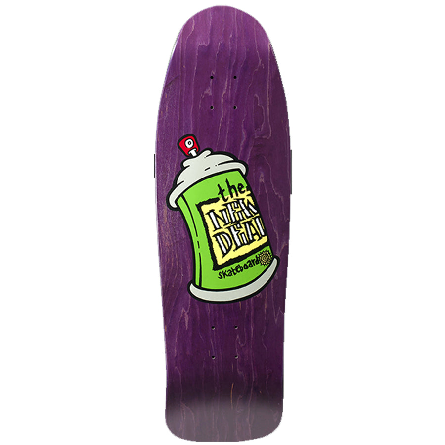 "New Deal  Spray Can 9.75"" Deck - Purple"