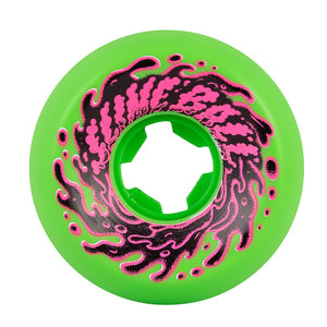 OG Slime Balls 56mm 97a Skateboard Wheels - Double Take Vomit Mini Neon