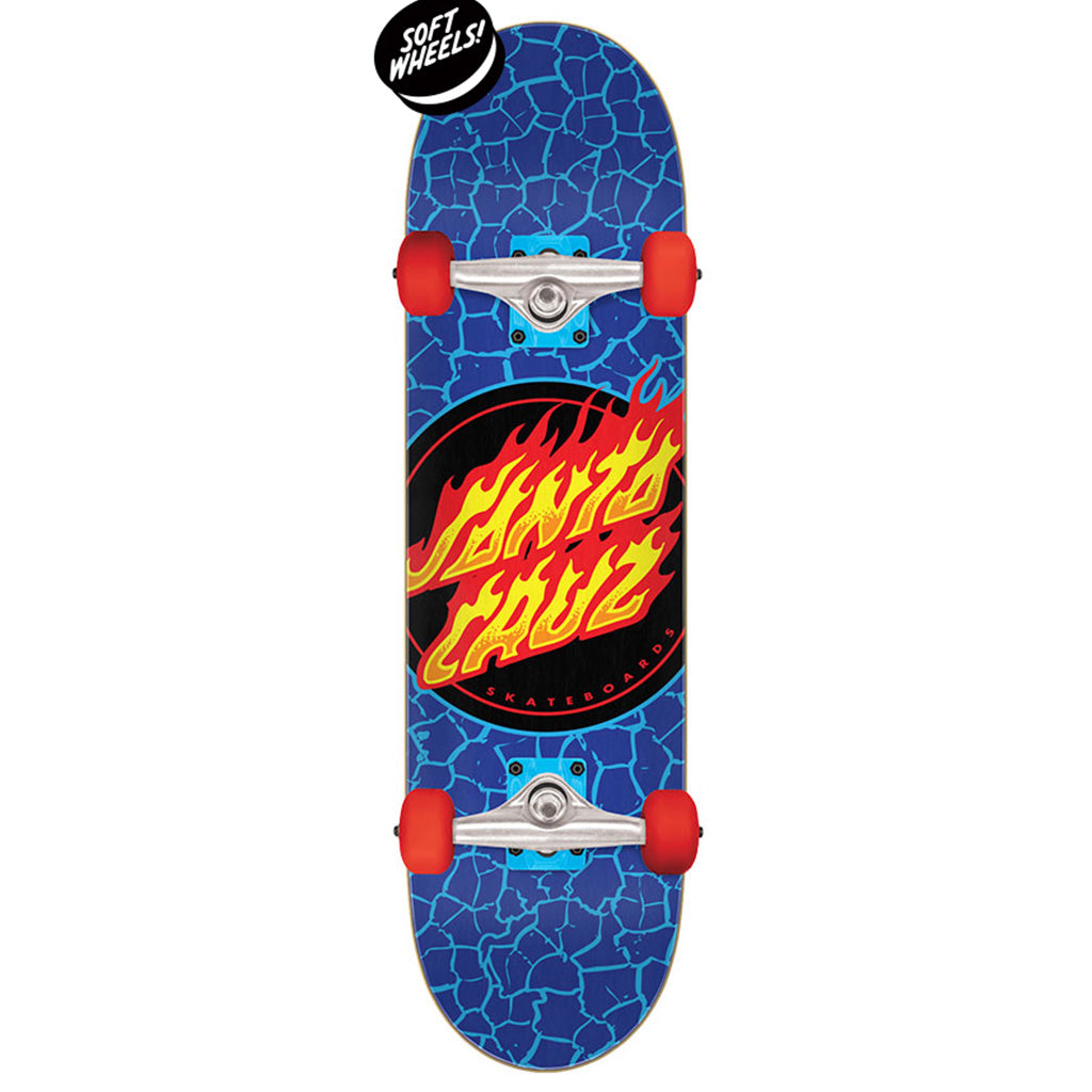 "Santa Cruz Flame Dot Micro Sk8 Complete -  7.50in x 28.25"" - Seaside Surf Shop"