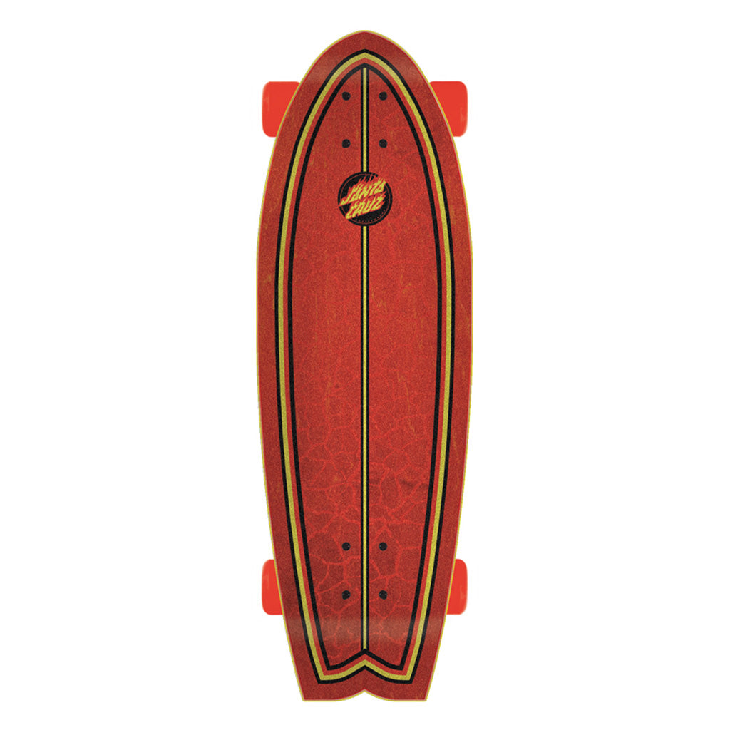 "Santa Cruz Skate Flame Dot Skateboard 8.8in x 27.7in"" Deck - Black/Red - Seaside Surf Shop"