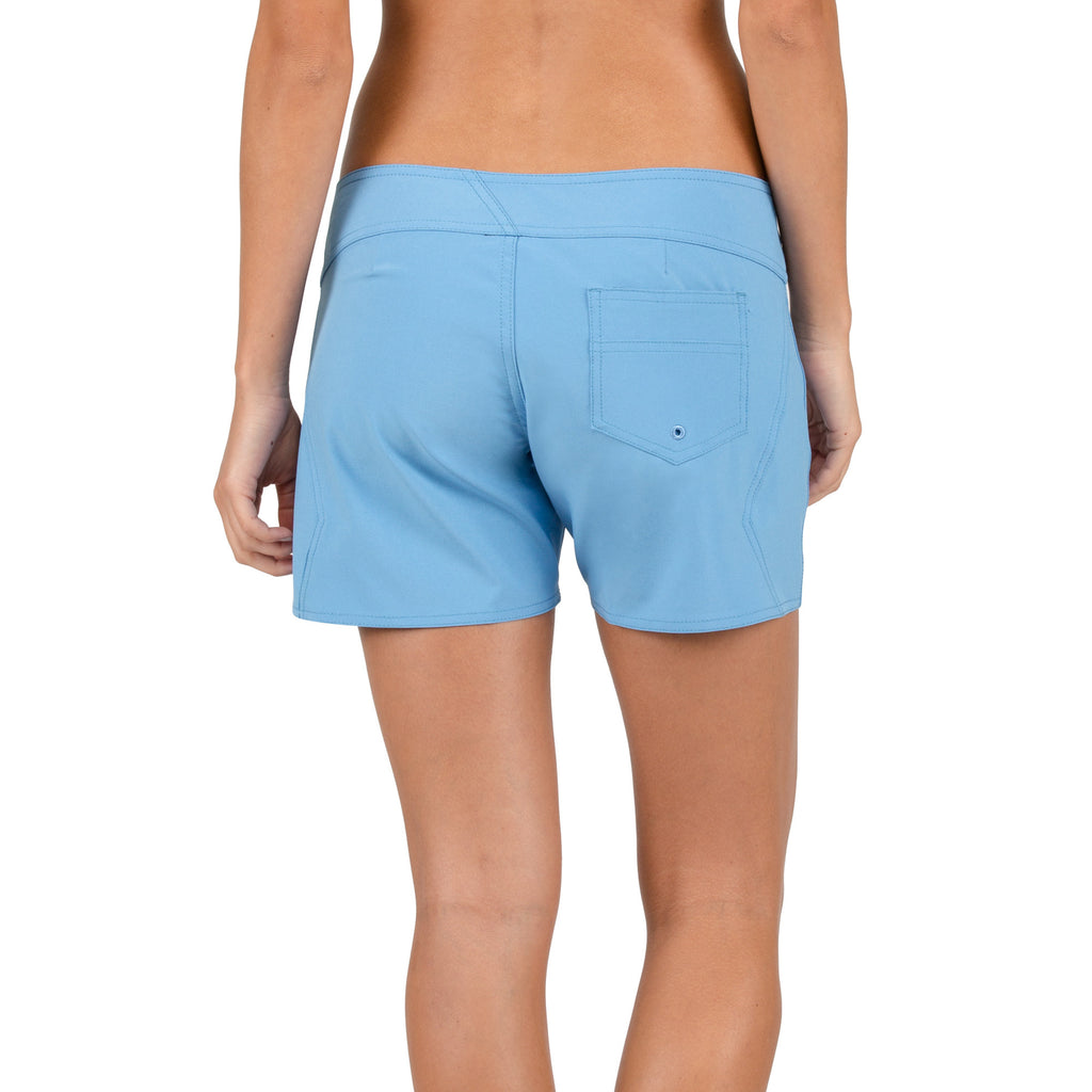 "-Swimwear-Volcom Womens Simply Solid 5"" Short - Coastal Blue-Volcom-Seaside Surf Shop"