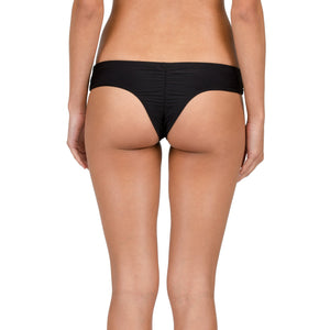 -Swimwear-Volcom Womens Simply Solid Cheeky- Black-Volcom-Seaside Surf Shop