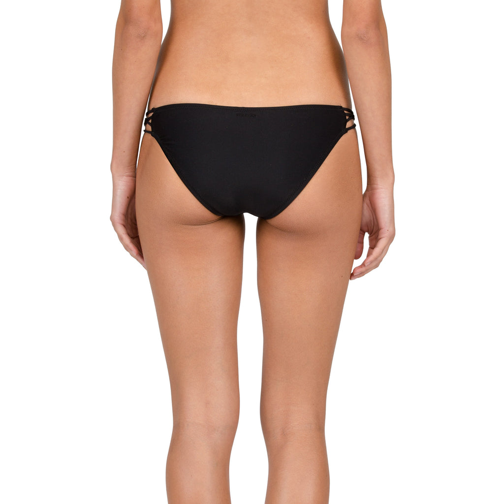 -Swimwear-Volcom Womens Simply Solid Full Bottoms- Black-Volcom-Seaside Surf Shop