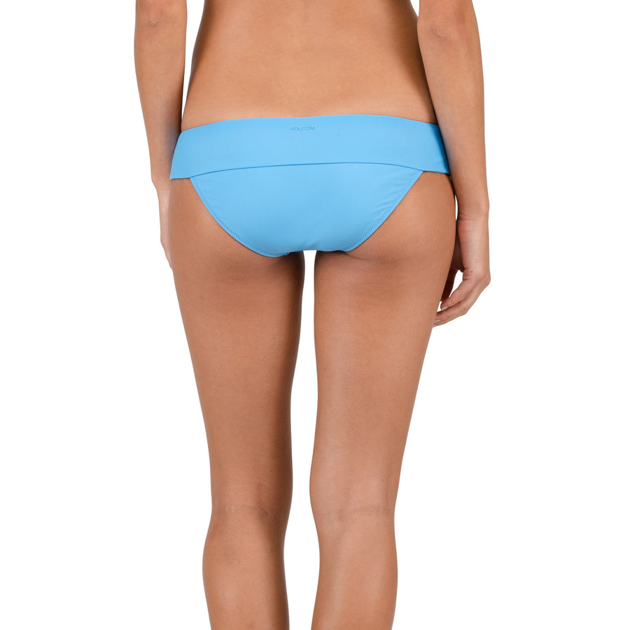 Volcom Womens Simply Solid Modest Bottoms- Coastal Blue-Volcom-Seaside Surf Shop