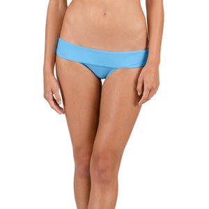 -Swimwear-Volcom Womens Simply Solid Modest Bottoms- Coastal Blue-Volcom-Seaside Surf Shop