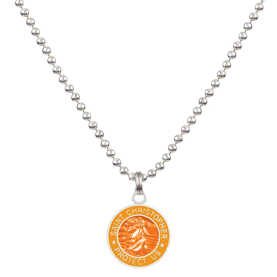 Saint Christopher Small Medal - Orange/Mango