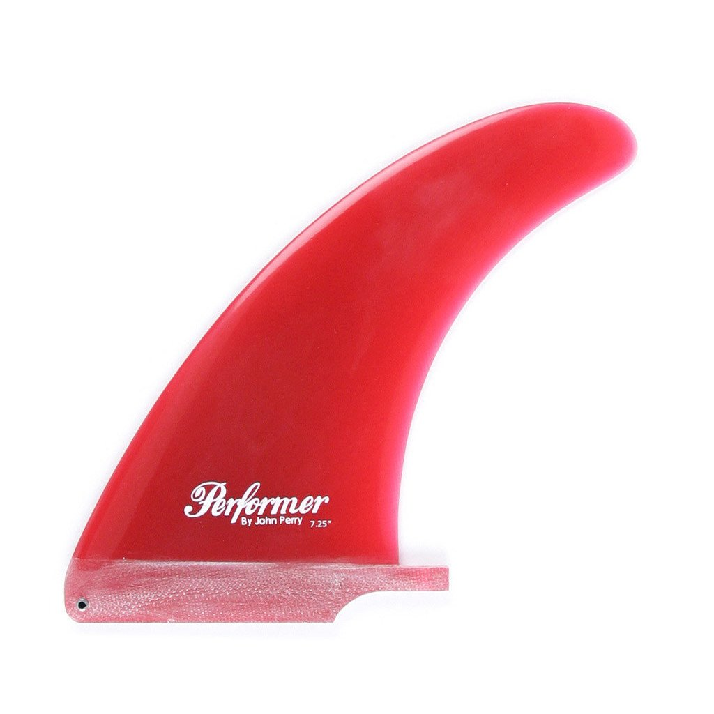"True Ames John Perry Performer Fins - 8.0"" Red - Seaside Surf Shop"