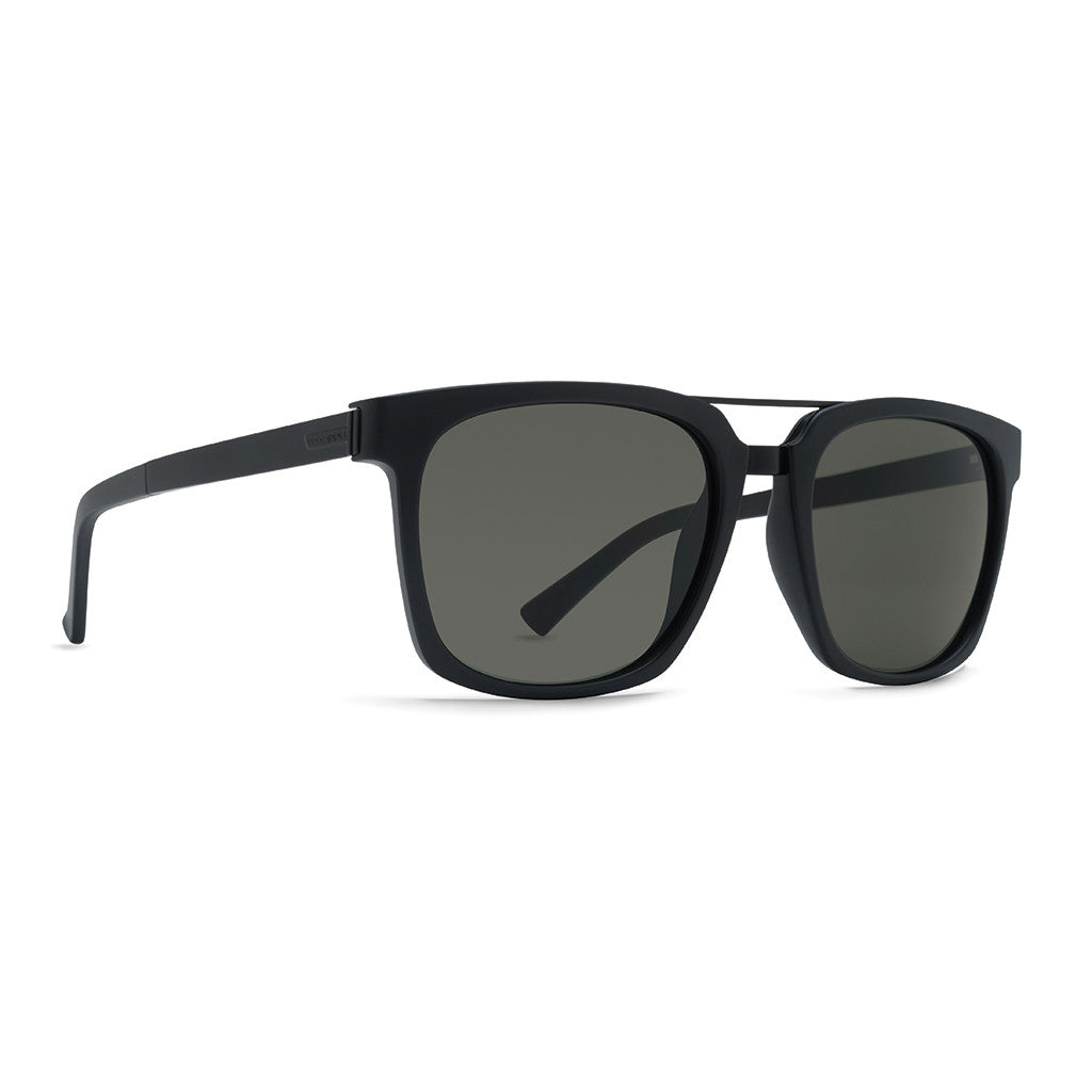 -Sunglasses-Von Zipper Plimpton - Black Satin/Grey-Von Zipper-Seaside Surf Shop