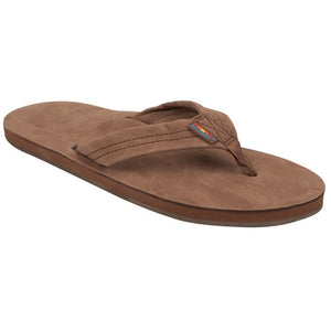 -Footwear-Rainbow Sandals Womens Premium Leather - Dark Brown-Rainbow Sandals-Seaside Surf Shop