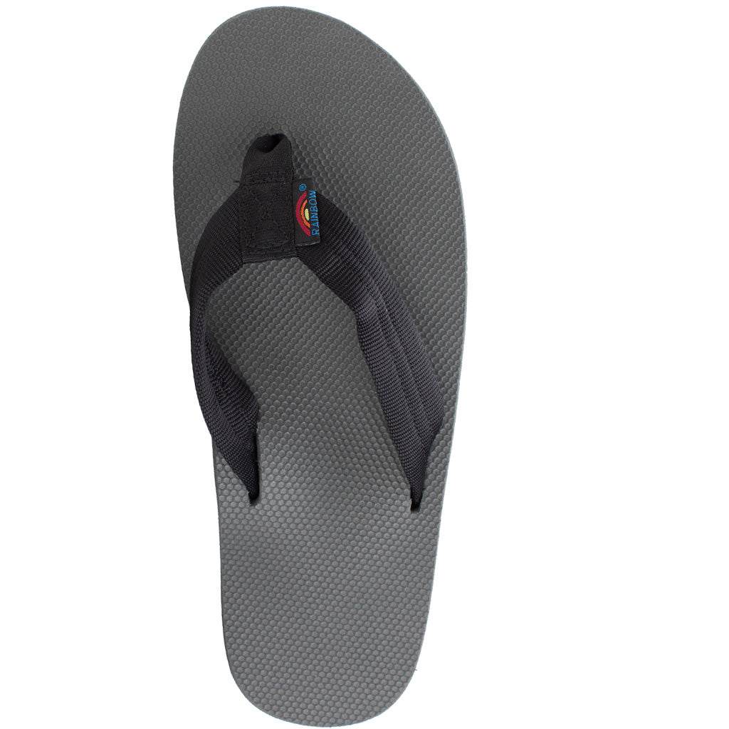 Rainbow Sandals Mens Classic Rubber Single Layer - Black/Grey - Seaside Surf Shop