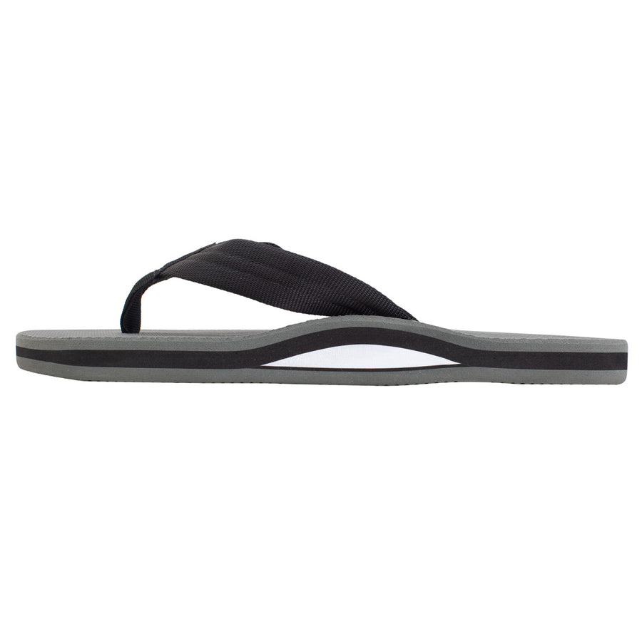 Rainbow Sandals Mens Classic Rubber Single Layer - Black/Grey
