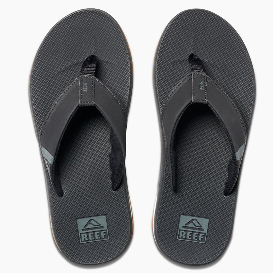 Reef Mens Fanning Low - Black, Footwear, Reef, Reef Mens Sandals, Introducing the Fanning Low with Thirst Quenching Technology! Fully equipped with a perforated and padded liner for breathability and comfort, a high rebound molded EVA footbed, 360 degree airbag under the heel, and of course, a bottle opener on the outsole for cracking a couple cold ones!