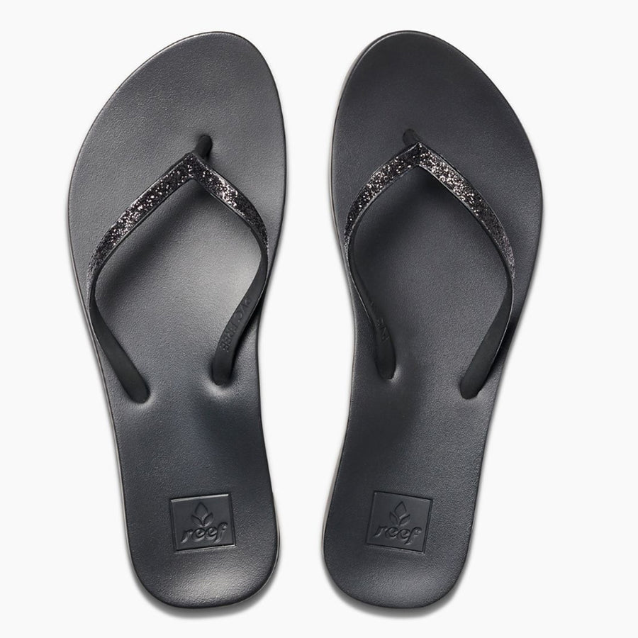Reef Womens Cushion Bounce Stargazer Sandals - Black