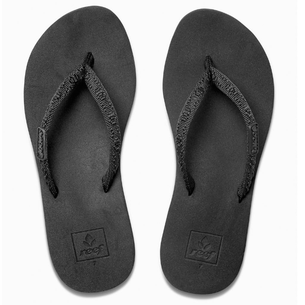 4d795f2b5f77a Reef Womens Ginger Sandals - Black Black - Seaside Surf Shop