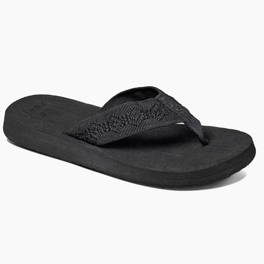 Reef Womens Sandy Sandals - Black, Footwear, Reef, Reef Womens Sandals, On those summer days when the blacktop is scorching, the Reef Sandy sandals will get you to your little piece of beach in style. This is a Reef Classic women's sandal featuring a full-width woven polyester strap for comfort, Reef-Flex triple density construction with anatomical arch support, and a durable, high density EVA outsole.